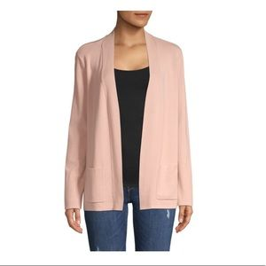 Business Casual Pale Pink Open Cardigan